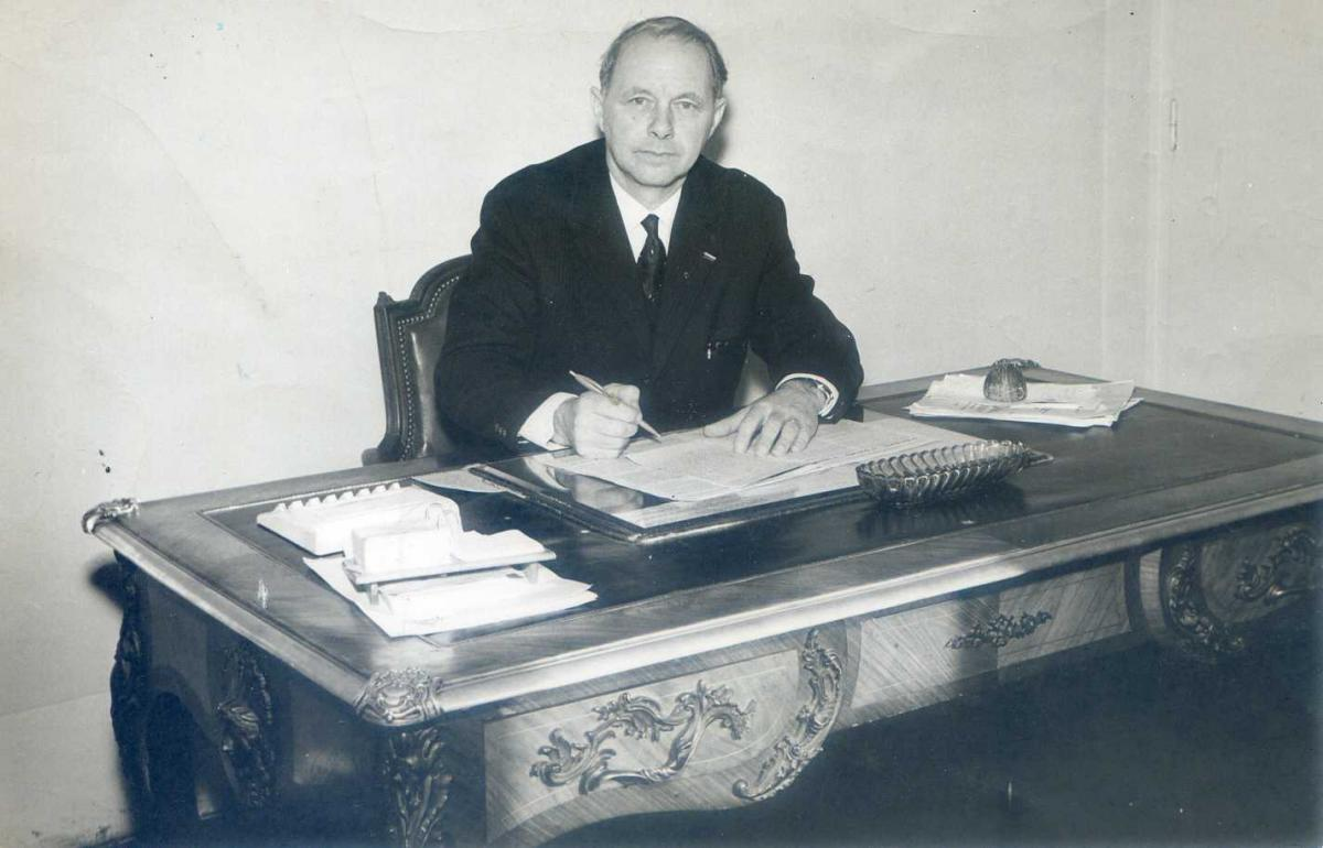 Bureau mairie provisioire 1965